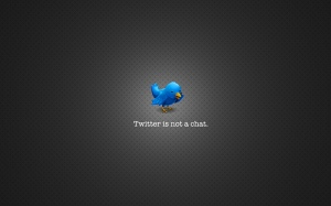 [wallpaper] twitter is not a chat