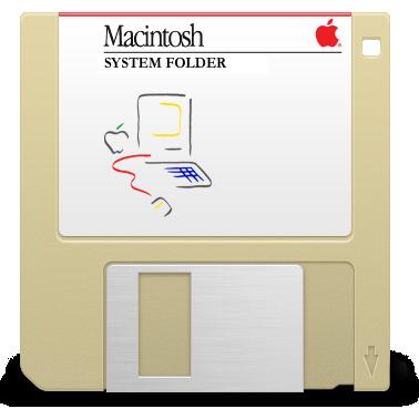 System Folder floppy logo