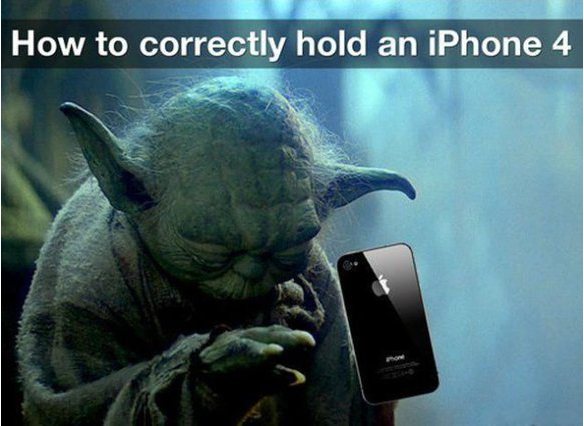 how-to hold your iPhone 4