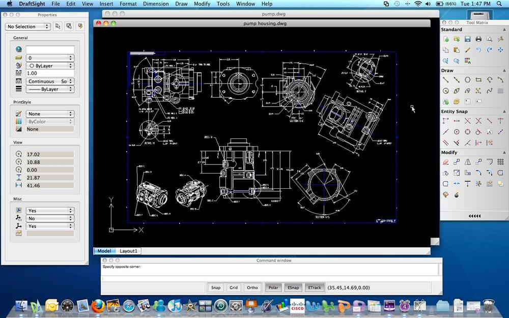 Draftsight free cad software for windows mac and linux for Online cad drawing software
