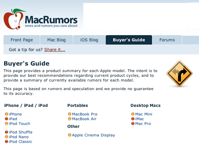 MacBuyer's Guide summary. Jan, 25th - 2012