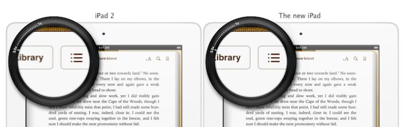 iPad vs iPad w. Retina Display