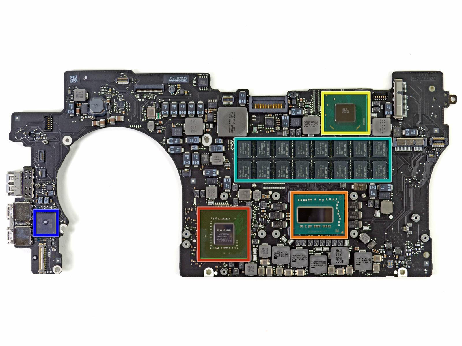 MacBook Pro Retina Display motherboard