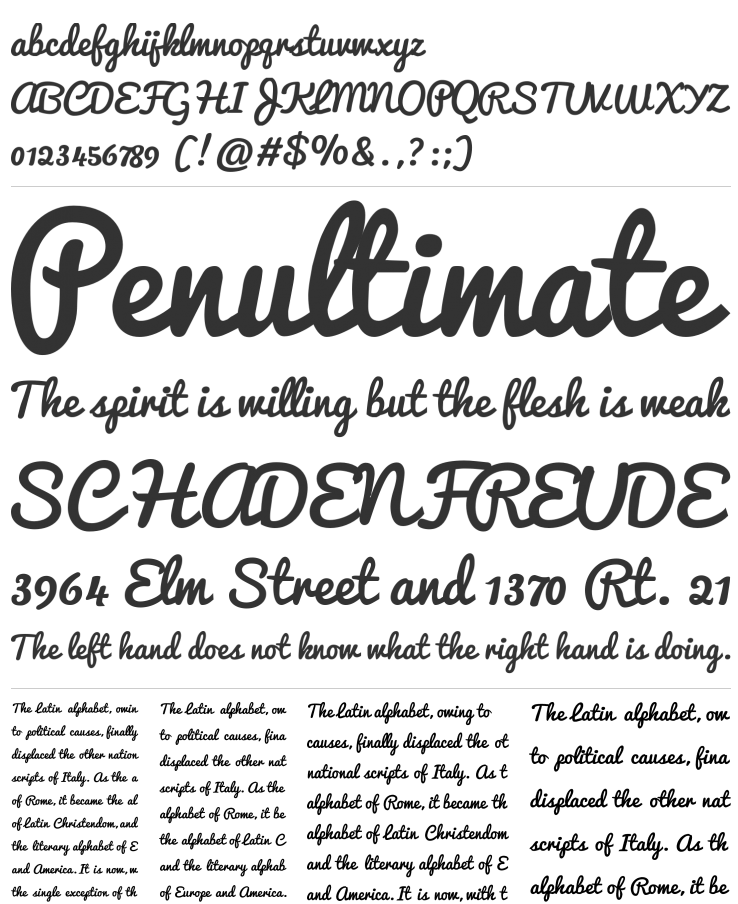 Pacifico font examples