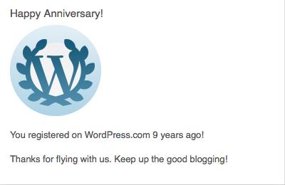 9 years on WordPress.com
