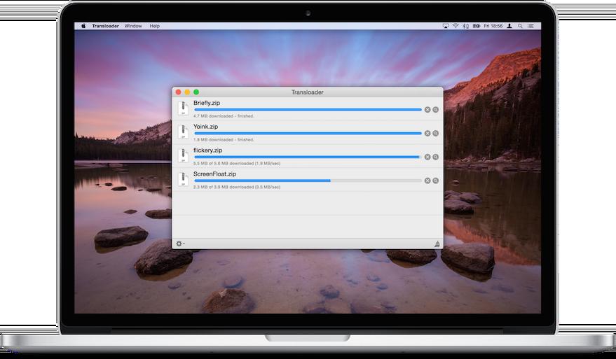 Transloader running on a Mac