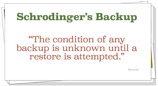 Schrodinger's Backup