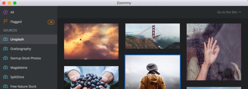 Zoommy, the stock photoexplorer