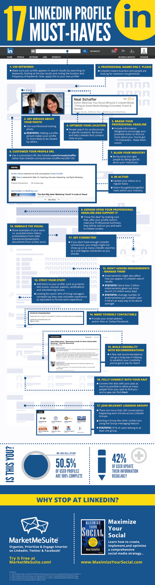 LinkedIn-Perfect-Profile-Tips-Summary-Infographic-Juntae-DeLane