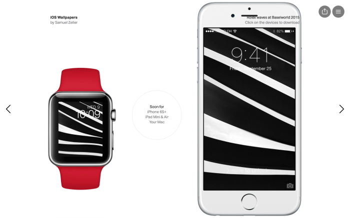 coordinated Apple Watch & iPhone Wallpapers
