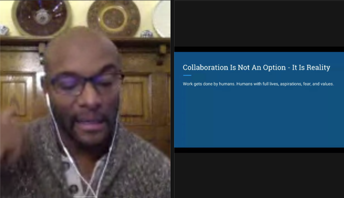 Collaboration is not an option: It is reality.