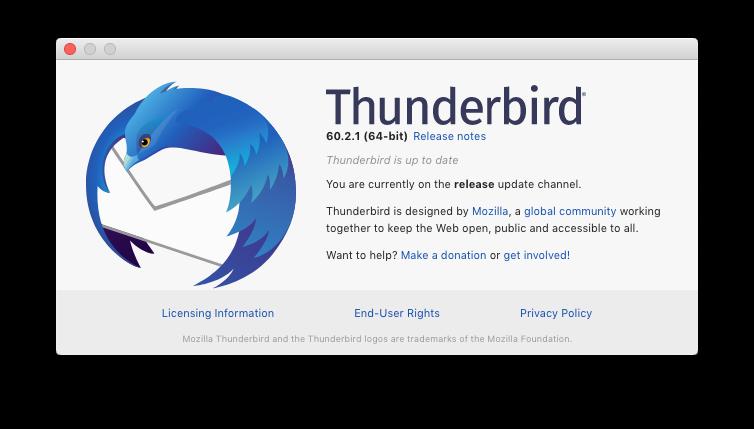Thunderbird 60.2.1 info 2018-10-15
